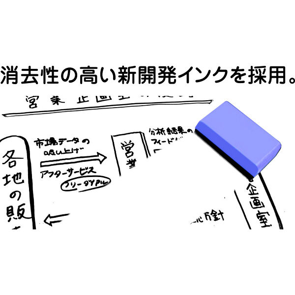 三菱鉛筆(uni) ホワイトボードマーカー お知らセンサーカートリッジ 中字角芯 赤 PWBR1005K