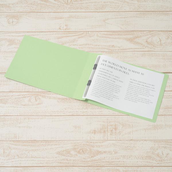 プラス フラットファイル厚とじ A4ヨコ 10冊 グリーン No.022NW 樹脂製とじ具