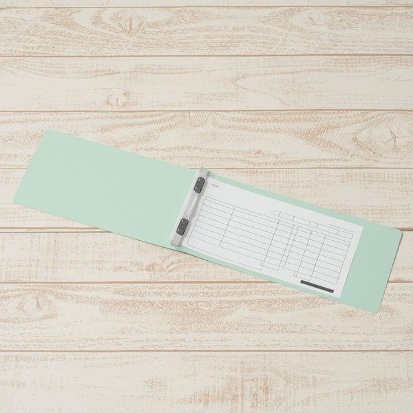プラス フラットファイル(統一伝票用)樹脂製とじ具 背幅18mm ブルー NO.062N 76025 1袋(10冊入)