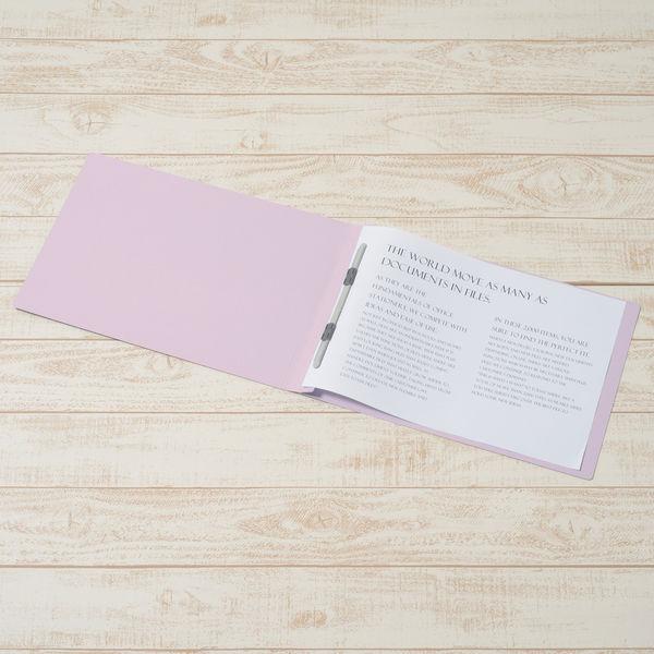 プラス フラットファイル樹脂製とじ具 B4ヨコ バイオレット No.012N 10冊