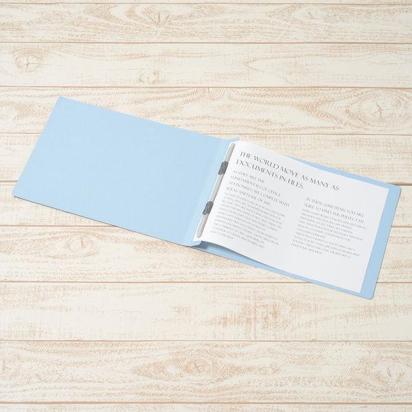 フラットファイル A4横 藍 10冊