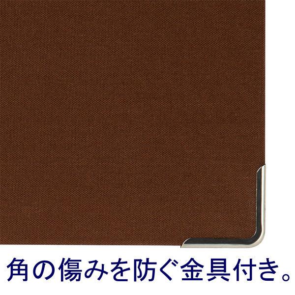 メニューファイル表紙 布貼り A4 10冊 アスクル 茶