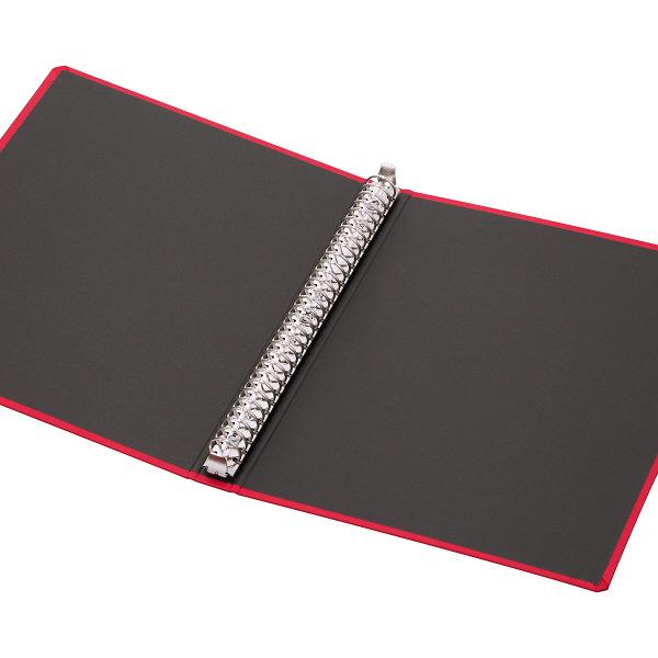 布貼りリングファイル 30穴 A4タテ 背幅34mm 10冊 アスクル レッド