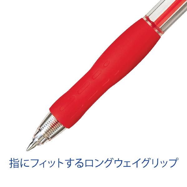 ぺんてる ノック式油性ボールペンRolly(ローリー) 0.7mm 赤 1箱(10本入)