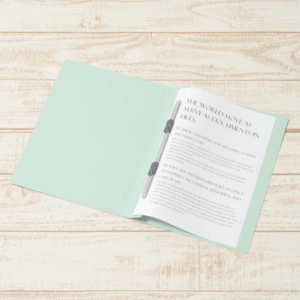 プラス フラットファイル樹脂製とじ具 B5タテ ブルー No.031N 10冊