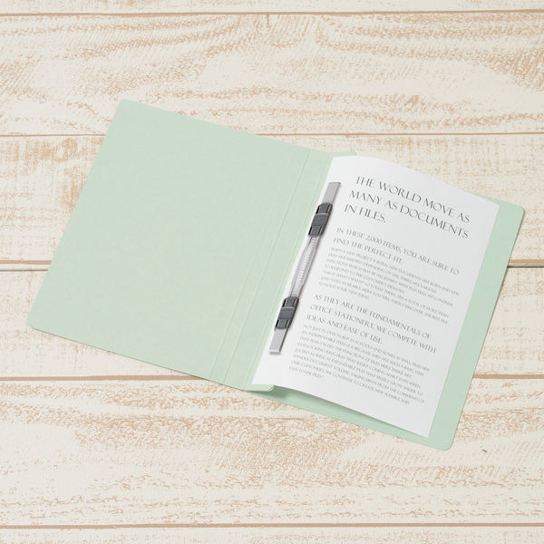 プラス フラットファイル樹脂製とじ具 B6タテ ブルー No.051N 10冊