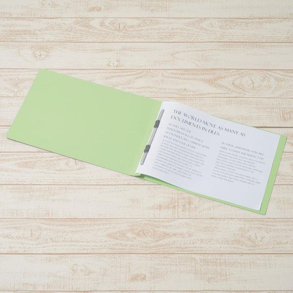 プラス フラットファイル樹脂製とじ具 B4ヨコ グリーン No.012N 10冊