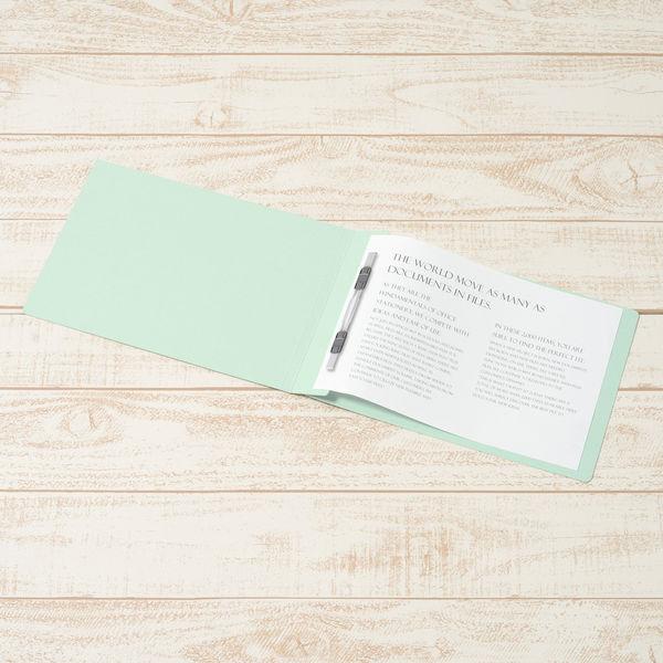 プラス フラットファイル樹脂製とじ具 B5ヨコ ブルー No.032N 10冊