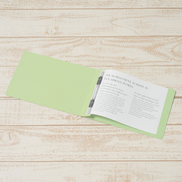 プラス フラットファイル樹脂製とじ具 A5ヨコ グリーン No.042N 10冊