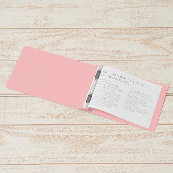 プラス フラットファイル樹脂製とじ具 B6ヨコ ピンク No.052N 10冊