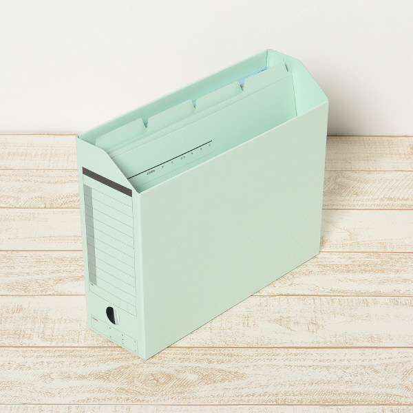 プラス カットフォルダー マチなし 4山 ブルー FL-064IF 87235 1セット(40枚:4枚入×10袋)