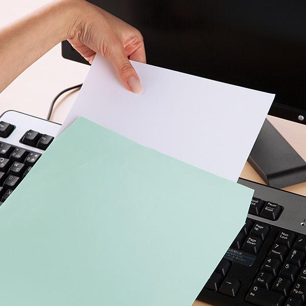 ムトウユニパック ナチュラルカラー封筒 角2(A4) ブルー テープ付 100枚