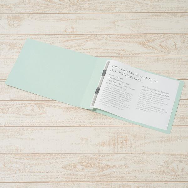 プラス フラットファイル厚とじ A4ヨコ 100冊 ブルー No.022NW 樹脂製とじ具