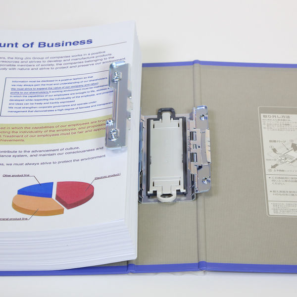 キングファイル スーパードッチ 脱着イージー A4ヨコ とじ厚50mm 青 10冊 キングジム 両開きパイプファイル 2485Aアオ