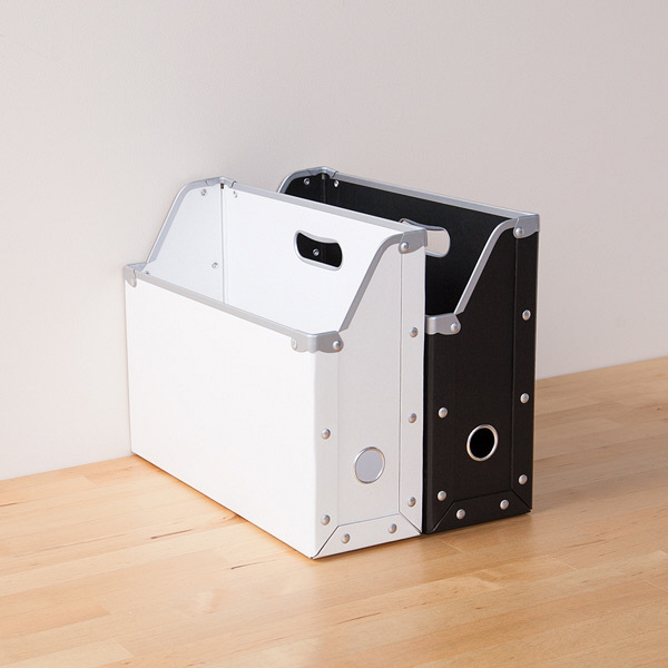 ボックスファイル A4ヨコ 6個 パルプボード ホワイト アスクル