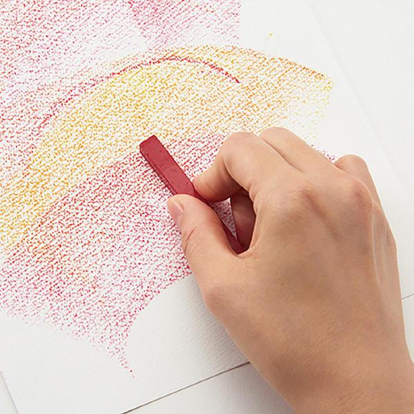 大人の水彩パステル12色セット 水筆付き
