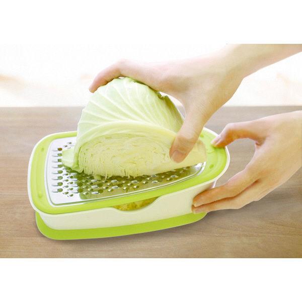 サラダおろしBOX グリーンホワイト