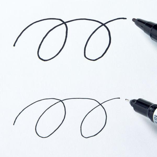 マッキーケア 細字/極細 詰め替えタイプ(アスクル限定モデル) 黒 油性ペン ゼブラ