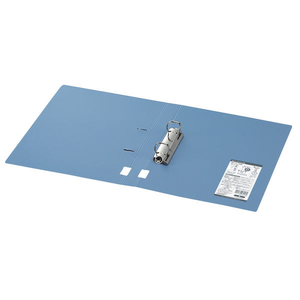 D型リングファイルA4タテ 青 34mm