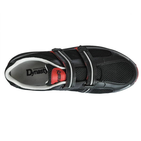 ドンケル 先芯入スニーカー ダイナスティライト DL-23M 黒/レッド ダイナスティライト R9209013314 1足 (直送品)