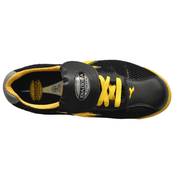 ドンケル R209004008 ディアドラ安全作業靴 キングフィッシャーKFー25 黒&イエロー 24.5cm 1足 (直送品)