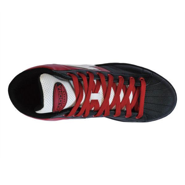 ドンケル R209014909 ディアドラ安全作業靴 エミュー EMー213黒&ホワイト&レッド 25.0cm 1足 (直送品)