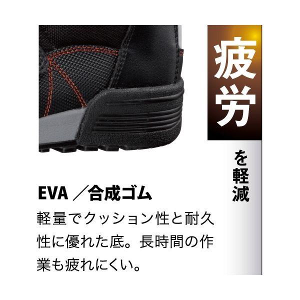 ミドリ安全 2125059312 建設業向け作業靴 ワークプラス コンストラクションMPCー525 黒 26.5cm 1足 (直送品)