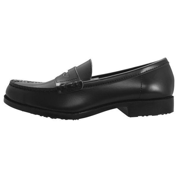 ミドリ安全 2125062209 女性用 ローファー超耐滑作業靴ハイグリップHー950L 黒 25.0cm 1足 (直送品)
