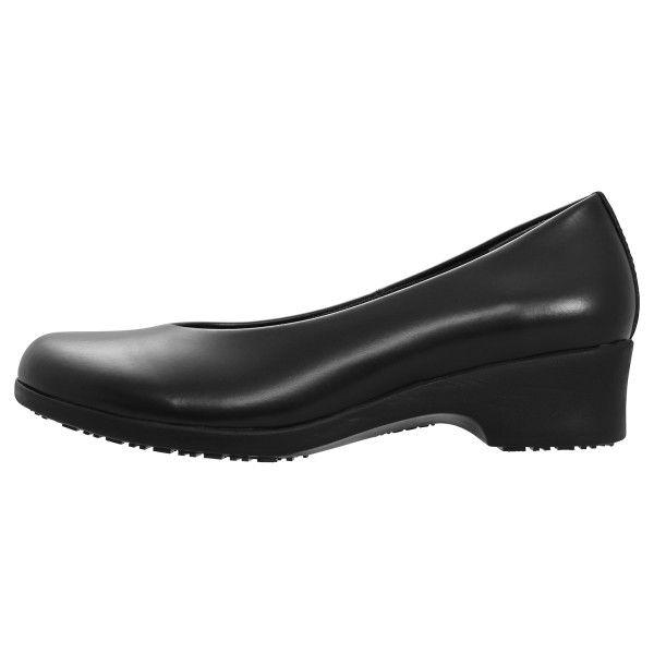 ミドリ安全 2125062303 女性用 パンプスデザイン超耐滑作業靴ハイグリップHー900 黒 22.0cm 1足 (直送品)