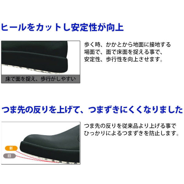 ミドリ安全 2125070002 超耐滑軽量作業靴ハイグリップ Hー700N 白21.5cm 1足 (直送品)