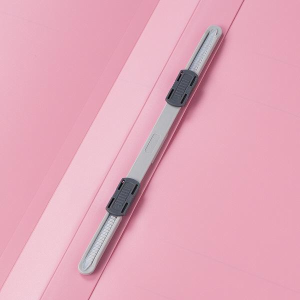 アスクル フラットファイルPP製 A4タテ厚とじ 背幅28mm ピンク 5冊