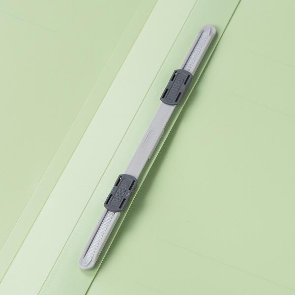 アスクル フラットファイルPP製 A4タテ厚とじ 背幅28mm グリーン 5冊