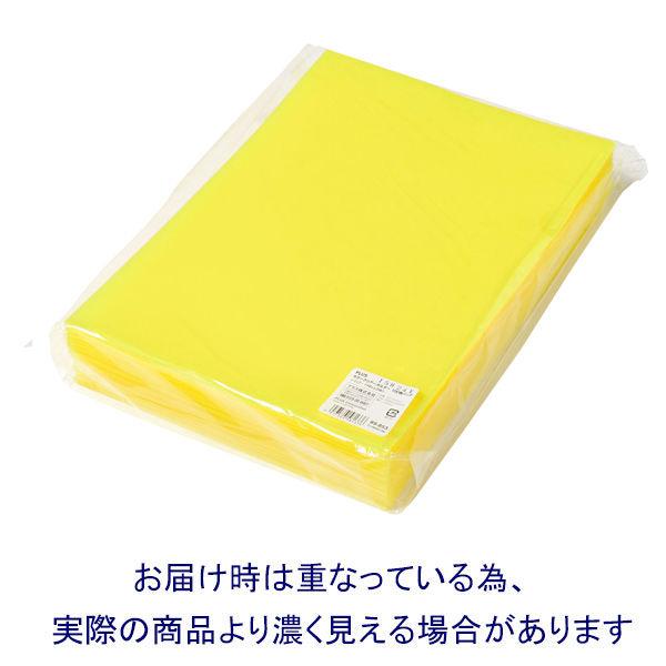 プラス カラークリアホルダー A4 1袋(100枚) イエロー