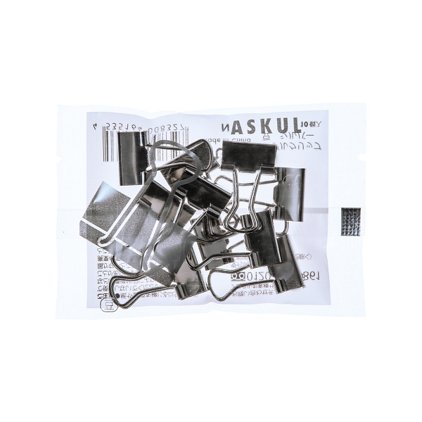 アスクル ダブルクリップ シルバー 豆 幅15mm 10個