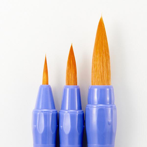 水彩 絵筆 ネオセーブル 3本セット