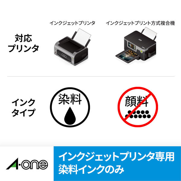エーワン ラベルシール パッケージラベル インクジェット つや消しフィルム 透明 A4 ノーカット1面 1袋(10シート入)×3袋 28793