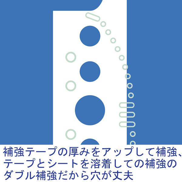 アスクル クリアファイル 差し替え式 10冊 A4タテ背幅32mm ユーロスタイル ブルー