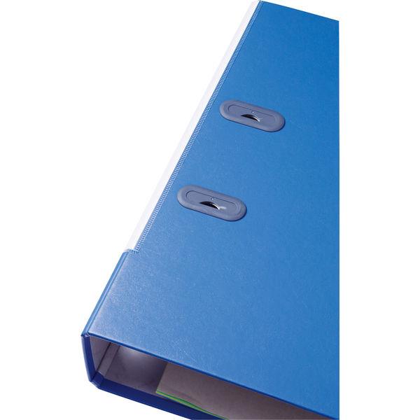 キングジム レバーリングファイルGXシリーズ Dタイプ A4タテ 背幅73mm ブルー 3775GXアオ 1セット(3冊:1冊×3)