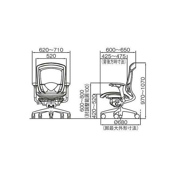 CM31AB FBH1 |オカムラ コンテッサ オフィスチェア 背座メッシュ 肘付 ブラック 1脚(直送品)