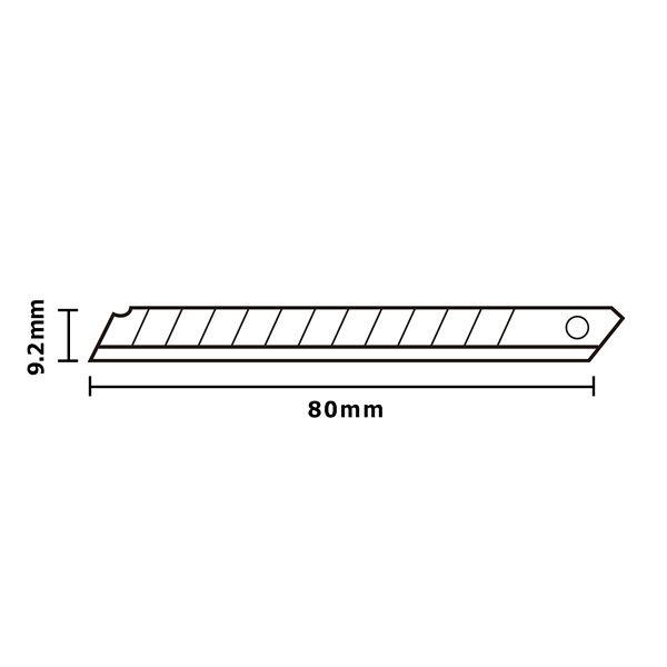 プラス カッターナイフ 替刃 Sサイズ CU-201 1パック(10枚入) (直送品)
