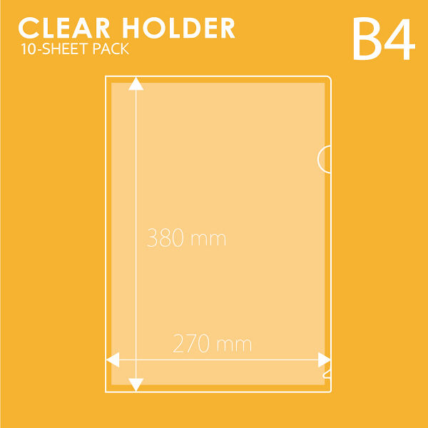 プラス クリアーホルダーB4 クリアー FL-212HO 1パック(10枚入)(直送品)