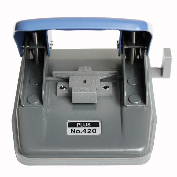プラス ペーパーパンチ ブルー NO.420 BL (直送品)