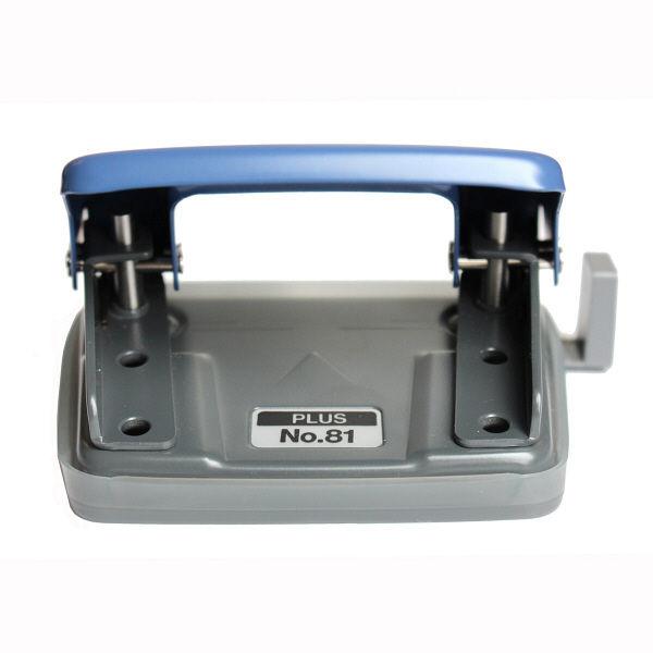 プラス ペーパーパンチ ブルー NO.81 BL (直送品)
