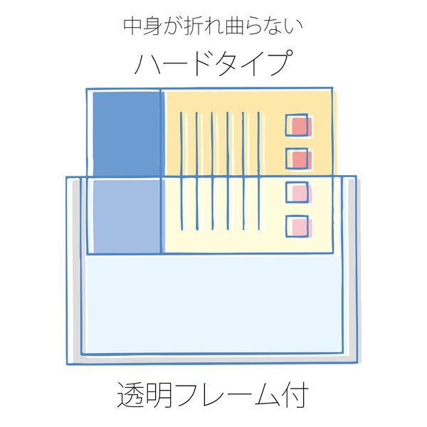 プラス SFパスケース A4 PC-004 BL (直送品)