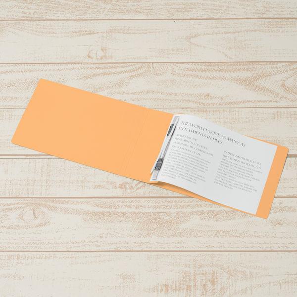 プラス フラットファイル厚とじ500 A5ヨコ イエロー 87607 1袋(10冊入)