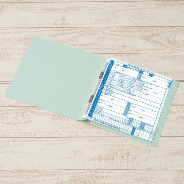 プラス フラットファイル樹脂製とじ具 マニフェスト伝票サイズ ブルー No.072N 10冊