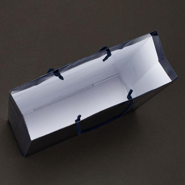 丸紐 手提げ紙袋 ネイビー L 30枚