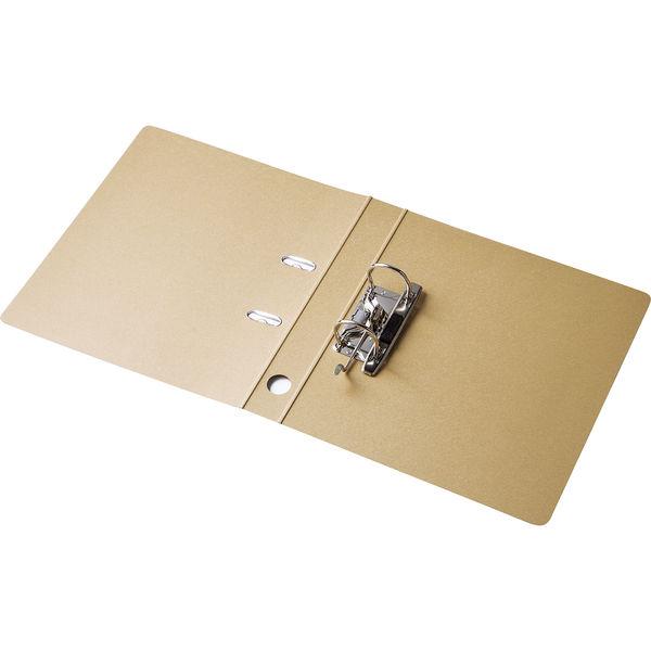 レバー式アーチファイル A4タテ 背幅43mm 10冊 アスクル シブイロ ベージュ