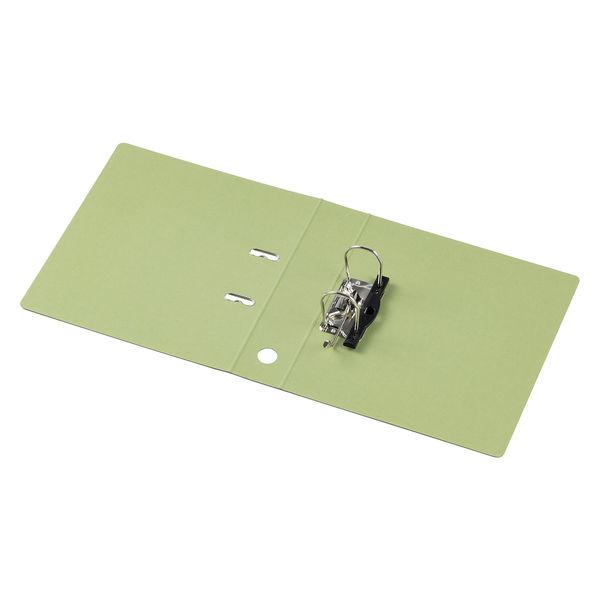 レバー式アーチファイル A4タテ 背幅66mm 10冊 アスクル シブイロ グリーン