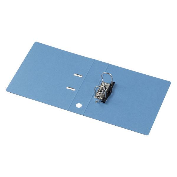 レバー式アーチファイル A4タテ 背幅66mm 10冊 アスクル シブイロ ブルー
